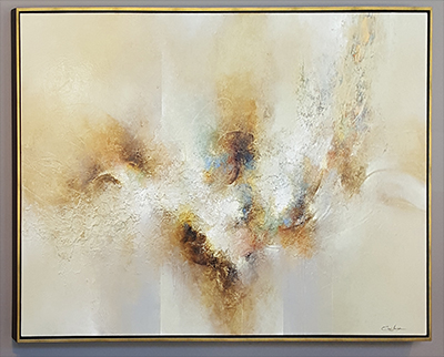 """Acrylic on Canvas in Floater Frame by Cody Hooper / 70-1/8"""" wide x 40-1/8"""" High"""