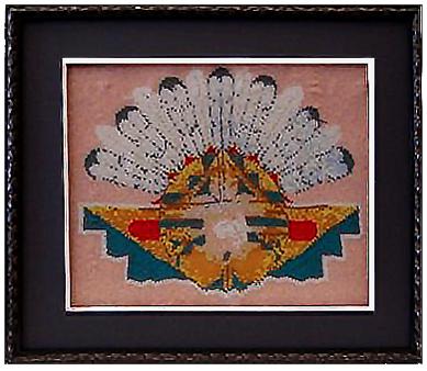 Native American Headdress in Shadowbox Frame