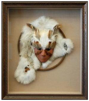 Native American Mask in Shadowbox Frame