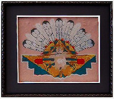 Native American Headdress in Shadowbox Frame